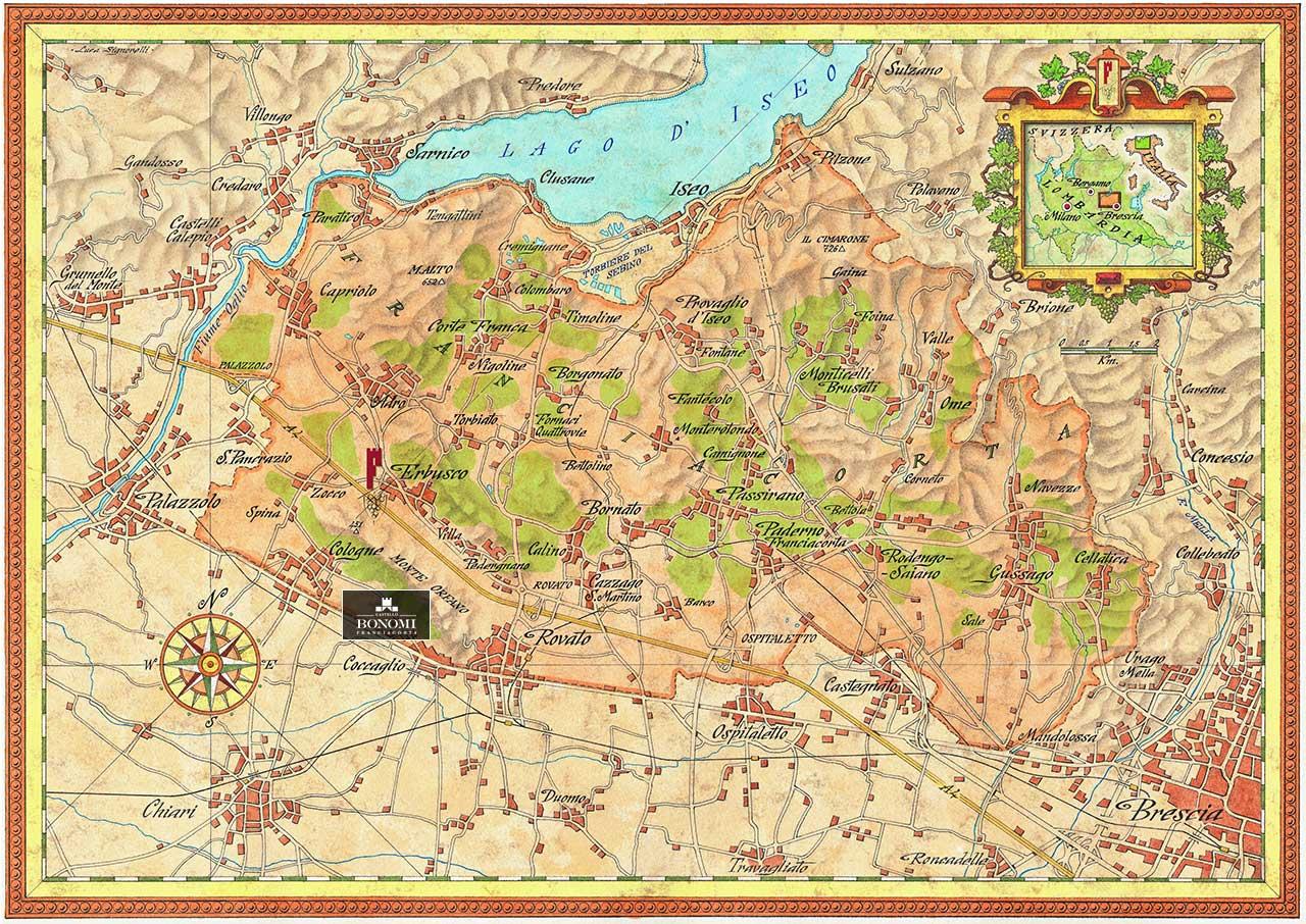 Cartina Geografica Della Franciacorta